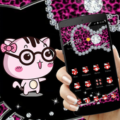Black Kitty Leopard Diamond Theme 1.1.1