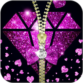 Purple Zipper Diamond Petals Theme 1.1.3
