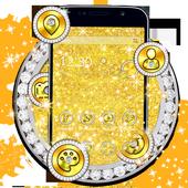 Luxurious Golden Glitter Theme 1.1.3