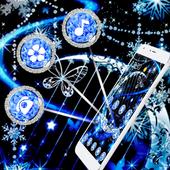 Blue Sparkle Diamonds Theme for Sailor Moon 1.1.5