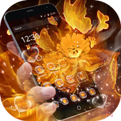 Golden flower flame butterfly love theme 1.1.3