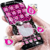 Pink Black Diamond Kitty Leopard Theme 1.1.12