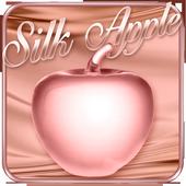 Rose Gold Silk Apple Theme 1.1.6