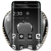 Black Crystal Apple for Phone X and OS 11 Theme 1.1.1