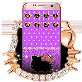 Purple Kitty Diamond Bowknot Theme 1.1.2