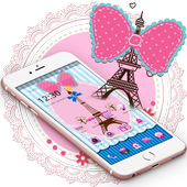 Pink Eiffel Tower Bowknot Lace Theme 1.1.2