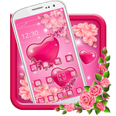 Gleaming Pink Hearts Theme 1.1.2