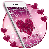 Sparkling Pink Heart Theme 1.1.1