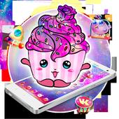 Galaxy Cup cake Mobile Theme 1.1.1