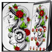 Beautiful Rose Girl Tattoo Theme 1.1.2