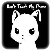 Cute Angry Cat Don't Touch My Phone Theme 1.1.1