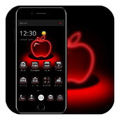 Red Neon Apple Dark Theme 1.1.0