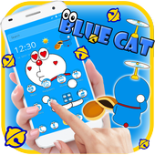 Kawaii Blue Cute Cat Cartoon Wallpaper Theme 1.1.4