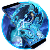 Neon Ice Dragon Launcher Theme 1.1.1