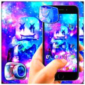 DJ Neon Galaxy Marshmallow Launcher Theme 🎧 1.1.0
