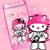Pink Cute Cartoon Girl Theme👩 1.1.0