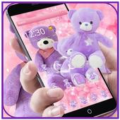 Lavender Teddy Bear Pink Purple Plush Toy Theme 1.1.1