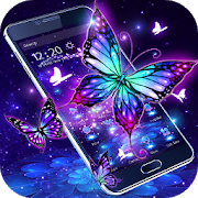 3D Purple Butterfly Theme 1.1.15