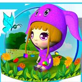 Pink Little Girl 3D Launcher Theme 1.0.0