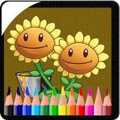 Draw Game vs Plant Zombie Coloring Book 1.0.0.0