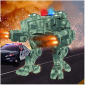 Futuristic Police Robots War 1.0