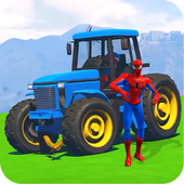 Superheroes Tractor Stunt Racing Games 1.1