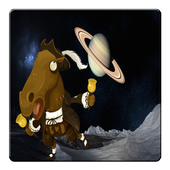 The Walking Horse On Space