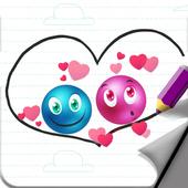 Balls Love : Draw Physics Love Ball