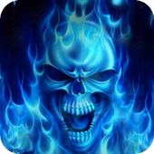 Skulls in a Blue Flame Live WP 2.1