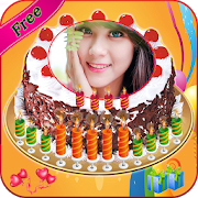 Name Photo on Birthday Cake – Love Frames Editor 1.0