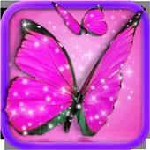 Pink Butterfly Live Wallpaper 1.7