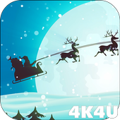 4K Xmas Santa Minimalistic Live Wallpaper 1.1