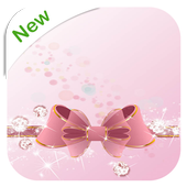 Pink Bow Wallpaper for Girls