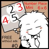 Mini Number Place 6x6 #0 1.4