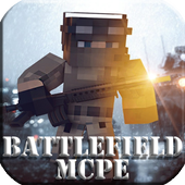 New War map Battlefield map for MCPE 1.0
