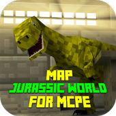 Map Jurassic World for MCPE 1.0