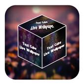 3D Cube Text Live Wallpaper 1.2