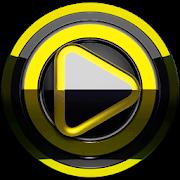 Poweramp skin Black Yellow 3.10