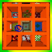 The Orange Trial. Parkour MCPE map 1.2.9.14