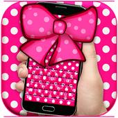 Pink Bow Keyboard Theme 1.1