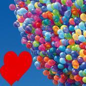 Pop kids balloonsRed skyAction