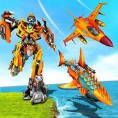 Air Robot Shark – Flying Robot Transforming Games 1.1