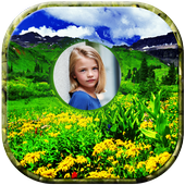 Nature Green Hill Photo Frame