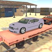 cargo train car transporter 3D 1.7