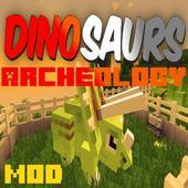 Archeology Dinosaurs Mod MCPE 9.0