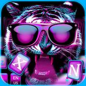 Neon tiger Keyboard Theme – hiphop tiger wallpaper 10001005