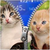 Kitty Zipper Lock Screen 1.0