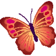 Butterfly Color by Number - Pixel Art Sandbox Draw 1.1