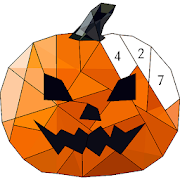 Halloween Poly Art: Color by Number, Coloring Book 2.2