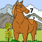 Horse Color by Number - Adult Coloring Book pages 1.0